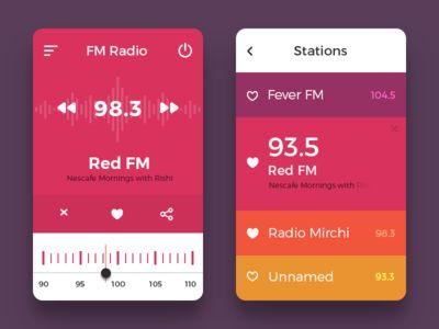 Radio UI Concept