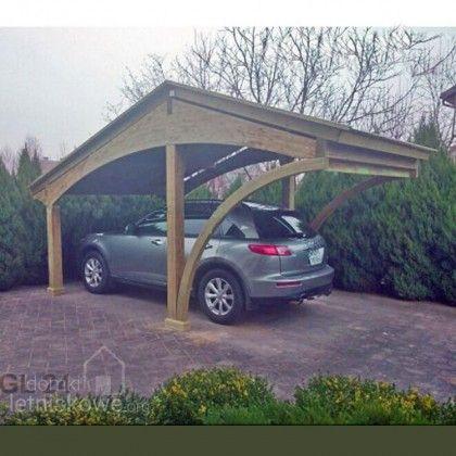 Drewniana jednostanowiskowa wiata garażowa (Carport) Revelatio I