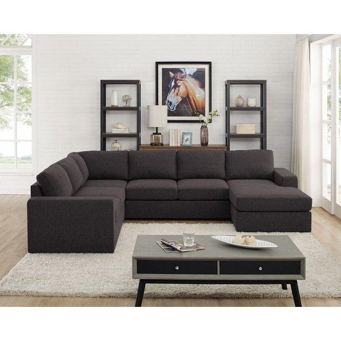 Ivy Bronx Nalani Modular Sectional Wayfair Modular Sectional Sofa Black Living Room Decor Livingroom Layout