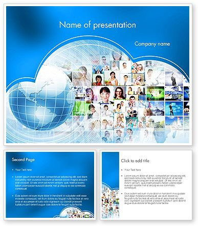 55 best powerpoint templates images on pinterest | social media, Presentation templates