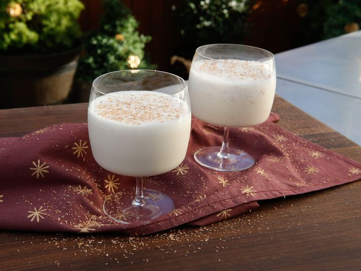 Frozen Brandied Eggnog (it's an eggnog milkshake) recipe from Geoffrey Zakarian via Food Network