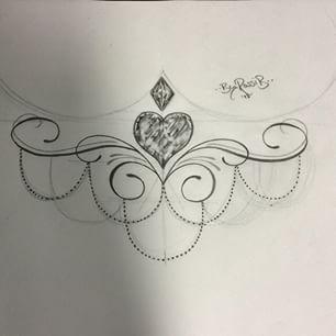 sternum tattoo underboobs designs - Pesquisa Google