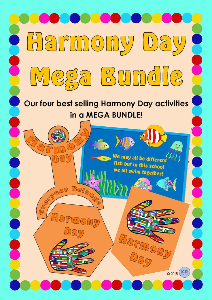 Harmony Day Mega Bundle combining the best selling Harmony Day flags, linking people, quilt and fish activities into one Mega Bundle by KR Learning