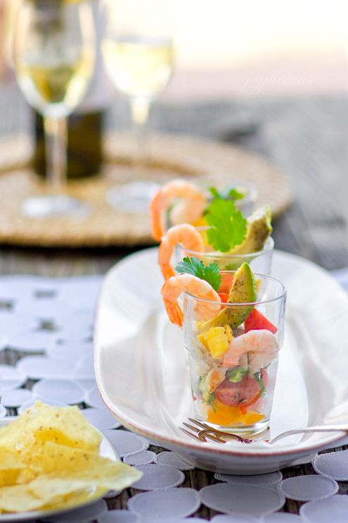 Grilled Red Fish & Shrimp Ceviche