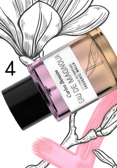"""MAGNOLIA MANIA """"Eau de Magnolia"""" by Editions de Parfums Frédéric Malle, 2014. Perfumer: Carlos Benaim."""