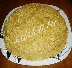 Домашний торт наполеон на сметане