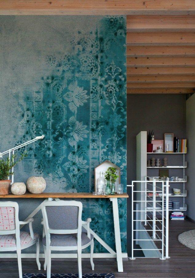 Die besten 25+ Tapete petrol Ideen auf Pinterest Farbe petrol - ideen frs schlafzimmer