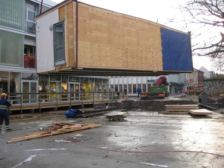 Sidste pavillondel på vej væk fra Store Torv, Thisted