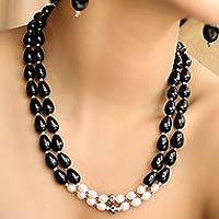 Pearl and onyx strand necklace, 'Majestic Union' from @NOVICA, They help #artisans succeed worldwide.
