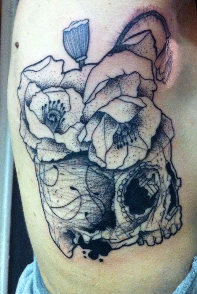 Skull tattoos by Lenad Nada · Skullspiration.com - skull designs, art, fashion and moreSkullspiration.com – skull designs, art, fashion and more