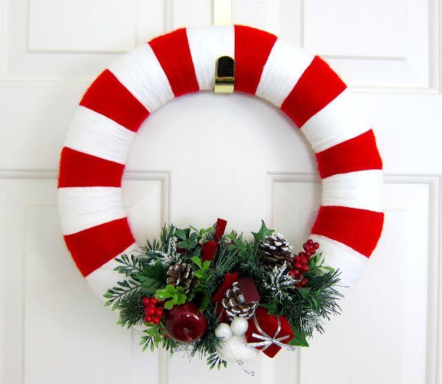 Christmas yarn wreath                                                                                                                                                      More