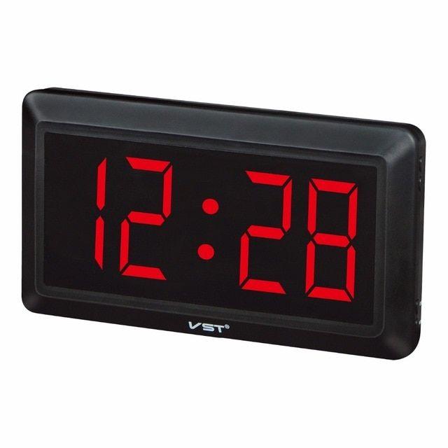 Large Digital Wall Clock Modern Design Big Number Led Electronic