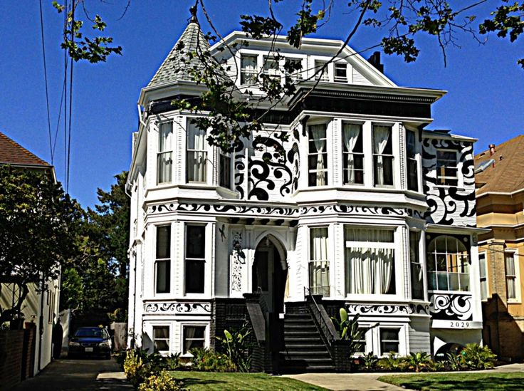 Alameda ca painted ladies victorian houses pinterest for Architecture victorienne