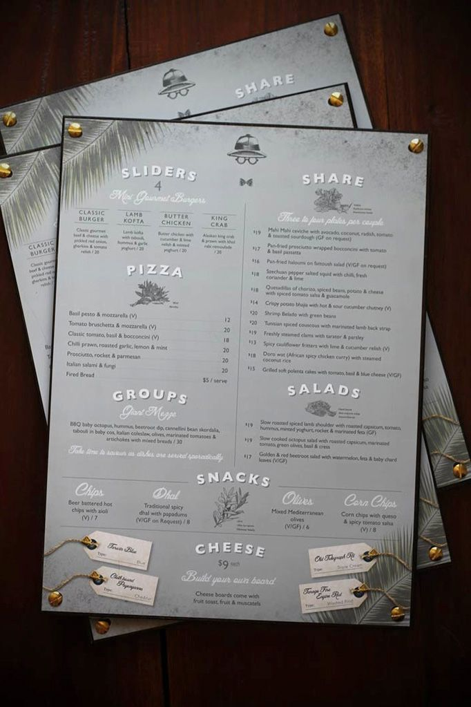 botanist photo 021 35 Beautiful Restaurant Menu Designs - nice one page - could be framed on leather with rivets