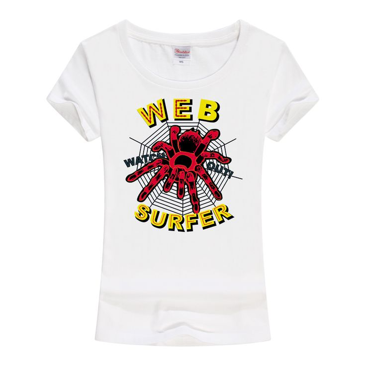 >> Click to Buy << T-shirt women fashion 2017 the Web surfer Printed Hipster t shirt Knitted O-Neck short sleeves Cotton shirt A230 #Affiliate