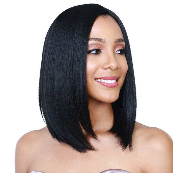 14'' Short Black Bob Wig Cheap Short Synthetic Wigs