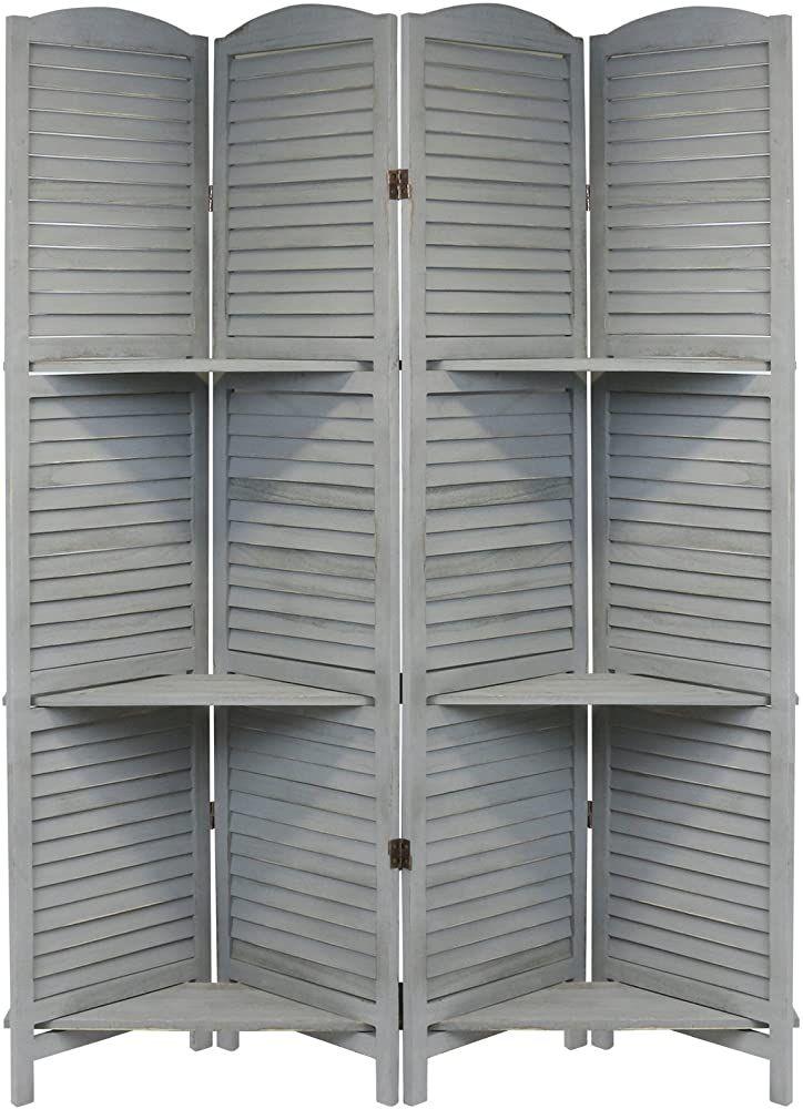 Hartleys Shabby Chic Raumteiler Paravent In Grau Mit 4 Flugeln Geschenksachen Geschenkideen Mobel Mobel In 2020 Mit Bildern Raumteiler Shabby Teiler
