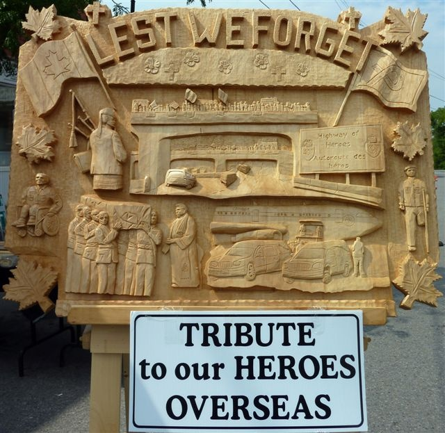 """""""Lest we forget"""" on the Highway of Heros"""