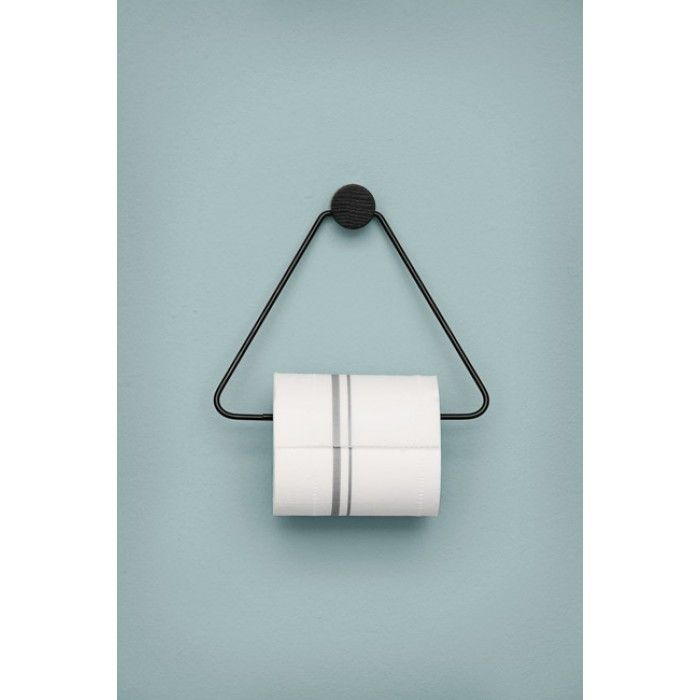 ferm LIVING Black Toilet Paper Holder