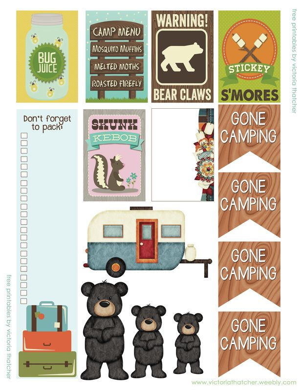 FREE Camping Planner Printable by Victoria Thatcher