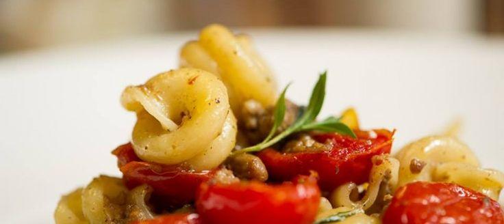 Gragnano Vesuvi and Grisela Soave Classico    Vesuvi pasta of Gragnano with lamb and Piccadilly tomato matched to Grisela Soave Classico. Try this recipe at Granpasso Restaurant, Via Velo 68 in Velo d'Astico (VI) http://www.granpasso.it/jgp/