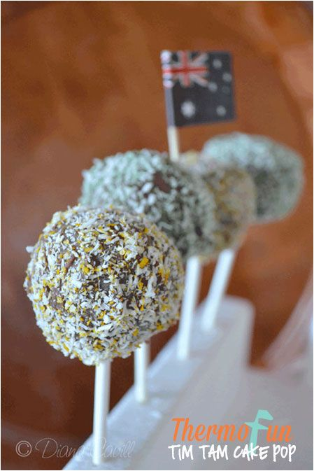 ThermoFun Recipe Club Member Australia Day Bonus Recipe - Tim Tam Cake Pops - Join Today! and have access to these past recipes.