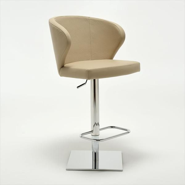 Day Barstool - chrome base with leather seating - Scan Design | Modern & Contemporary Furniture Store