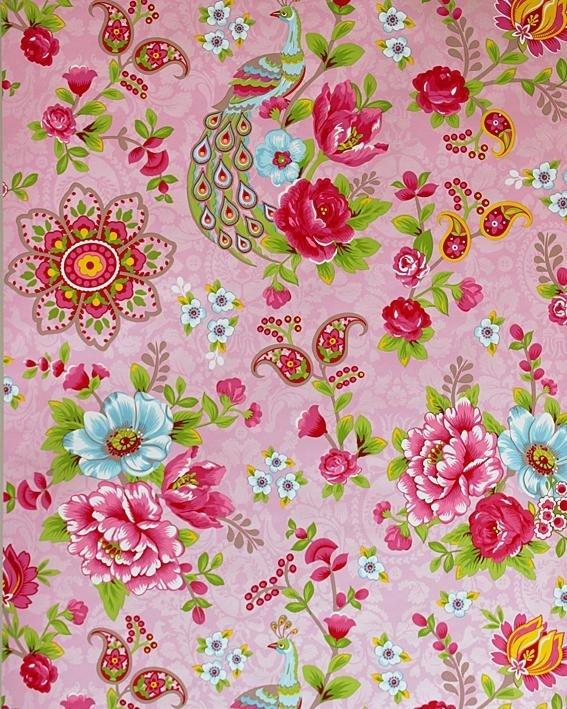 Kinderbehang Pip - Pauw roze bloem 313053 | Kamer Aimee | Pinterest