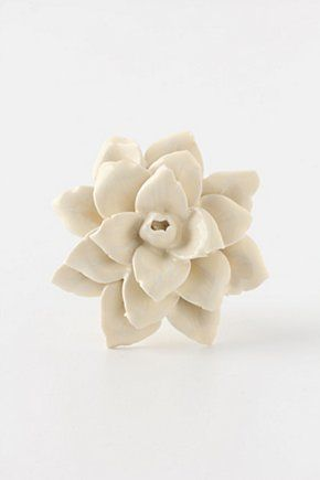 Linen Flower Knob | Anthropologie.eu