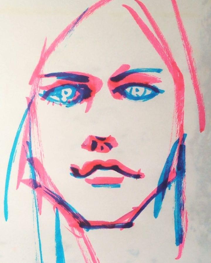 いいね!22件、コメント3件 ― @1mindrawのInstagramアカウント: 「#1mindraw #一分描画 #avrillavigne #アヴリルラヴィーン #musician #ミュージシャン #19840927 #birthday #誕生日 #portrait…」