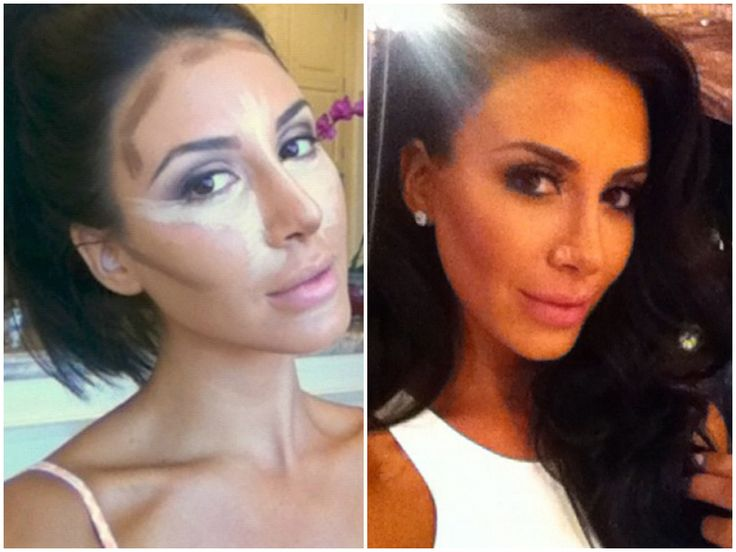 Contour Makeup Before And After