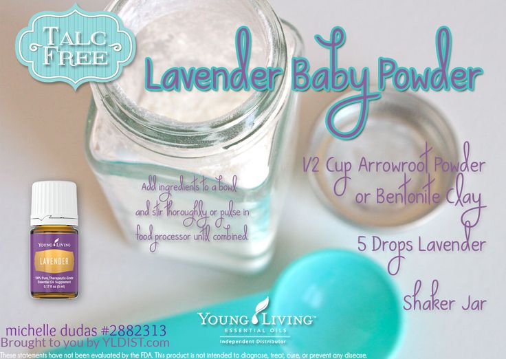 Your babies skin is so delicate and sensitive, so why would you put anything but natural ingredients on it? With this DIY Homemade Talc Free Lavender Essential Oils Baby Powder recipe, you don't have to worry about harmful, irritating chemicals!