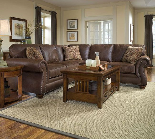 Laramie 5080 Sectional Chocolate Brown 102 X 100