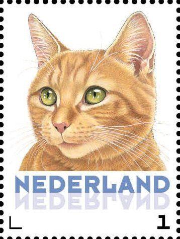 Stamp: Domestic Cat (Felis silvestris catus) (Netherlands - Personalized stamps) (Cats, Francine van Westering) Col:NL 2015-079