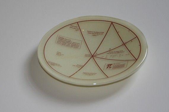 Geektastic Circle/ Maths/ Pi/ Equations Bowl  by WestArtAndGlass, £31.00