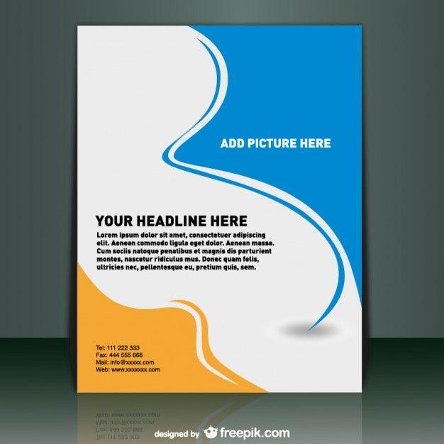 Plantilla del aviador Folleto del asunto Editable cartel A4 para - free business profile template