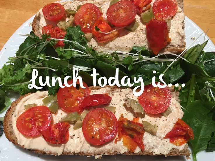#lunchtodayis ... wholemeal sub with hummus, green olives, sundried tomatoes, baby tomatoes and mixed greens. Delish!   Check out my plant-based recipes here: carolinesplantbaseddiet.com  #wfp #wfpb #wfpbd #wfpbdiet #wholegrain #wholefoodplantbased #plantbasediet #plantpower #plantbasedweightloss #plantbasedrecipes #plantbasedlunch