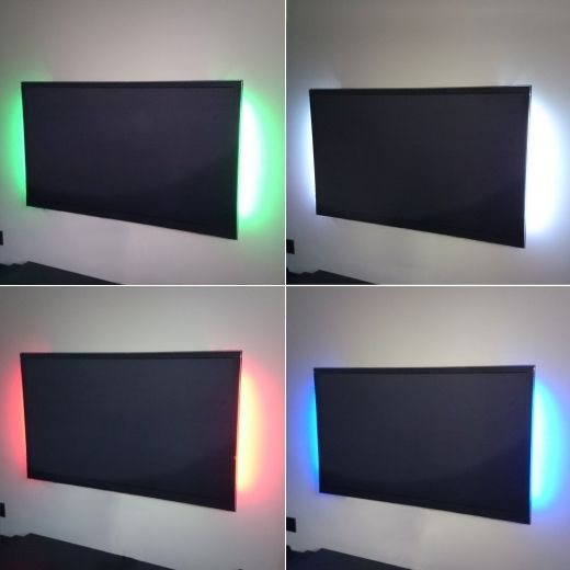 Power Master colour change TV LED backlight kit. Kit comes complete with 2 x 50cm flexible LED striplights, USB connector and on/off switch. Plug directly into TV to operate. Assorted Fixed colours. Static, Flash, Strobe, Fade and Smooth mode. CE Approved. 2.5W strips. Full instruction included. 3.15metre leading wire. #Backlight #led #lighting #lightbulb #diy #home #decor #ideas #strip
