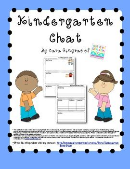Kindergarten Chat Freebie - This is a fun way for your students to learn to listen to each other and to explain information that they have learned.