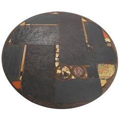 Paul Kingma Ceramic Art Slate Coffee Table with Metal Foot, 1973