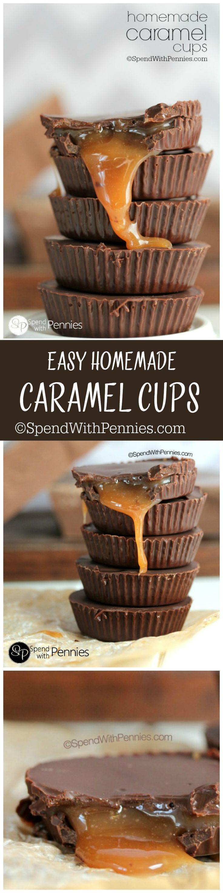 Homemade Caramel Cups are totally decadent and amazing. You'll be surprised at how easy they are to make! Perfect as a gift or an indulgent treat!.