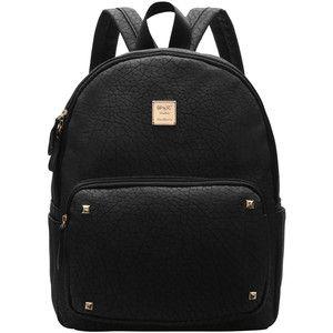 SheIn(sheinside) Black Metallic Embellished PU Backpacks