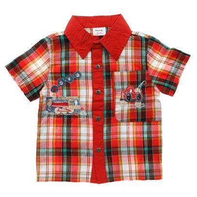 z Boys Check Machine Short Sleeve Shirt-C2832-Check $14.00 on Ozsale.com.au