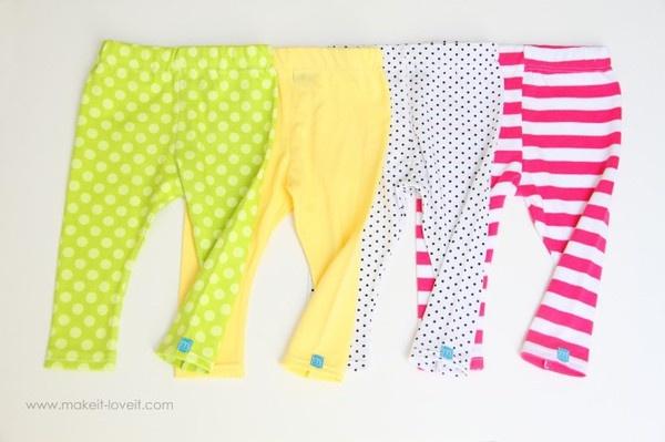 DIY baby leggings