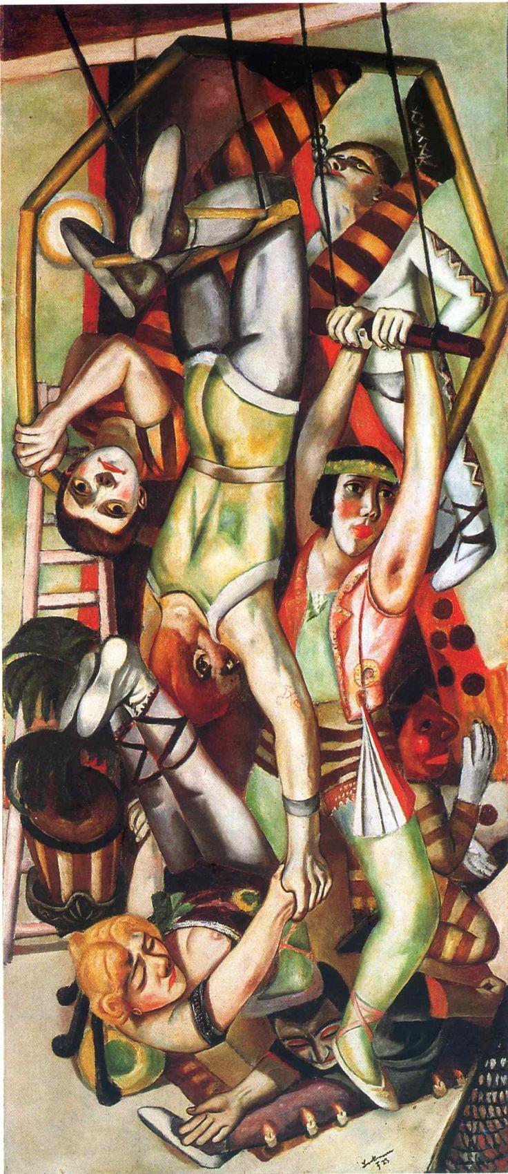 The Trapeze, 1923  by Max Beckmann (German,1884-1950) http://onework.ru/wp-content/uploads/art/Beckmann,%20Max/Max%20Beckmann%20162.jpg