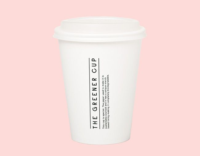 Branding The Greener Cup, coffee cup, design