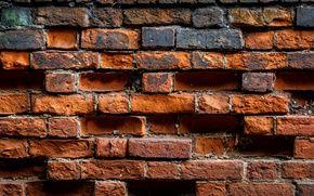 Обои коричневый, стены, кирпичи