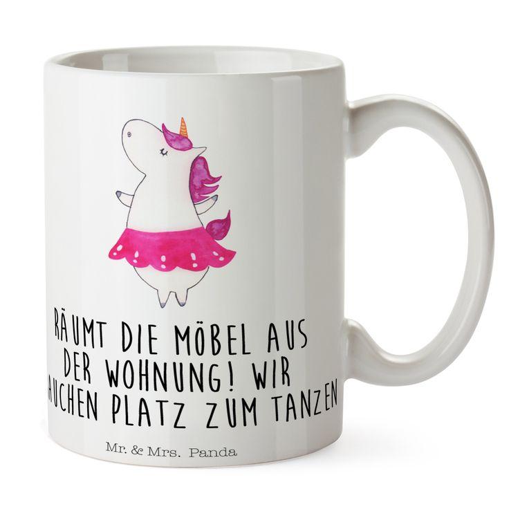 Tasse Einhorn Ballerina aus Keramik  Weiß - Das Original von Mr. & Mrs. Panda.  Eine wunderschöne Keramiktasse aus dem Hause Mr. & Mrs. Panda, liebevoll verziert mit handentworfenen Sprüchen, Motiven und Zeichnungen. Unsere Tassen sind immer ein besonders liebevolles und einzigartiges Geschenk. Jede Tasse wird von Mrs. Panda entworfen und in liebevoller Arbeit in unserer Manufaktur in Norddeutschland gefertigt.    Über unser Motiv Einhorn Ballerina  Ein Einhorn Edition ist eine ganz…