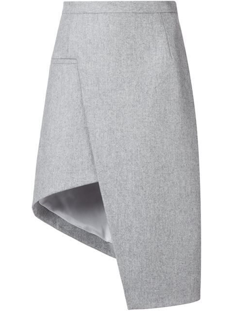 Shop Mugler asymmetric A-line skirt  in idea by SOSU from the world's best independent boutiques at farfetch.com. Shop 300 boutiques at one address.