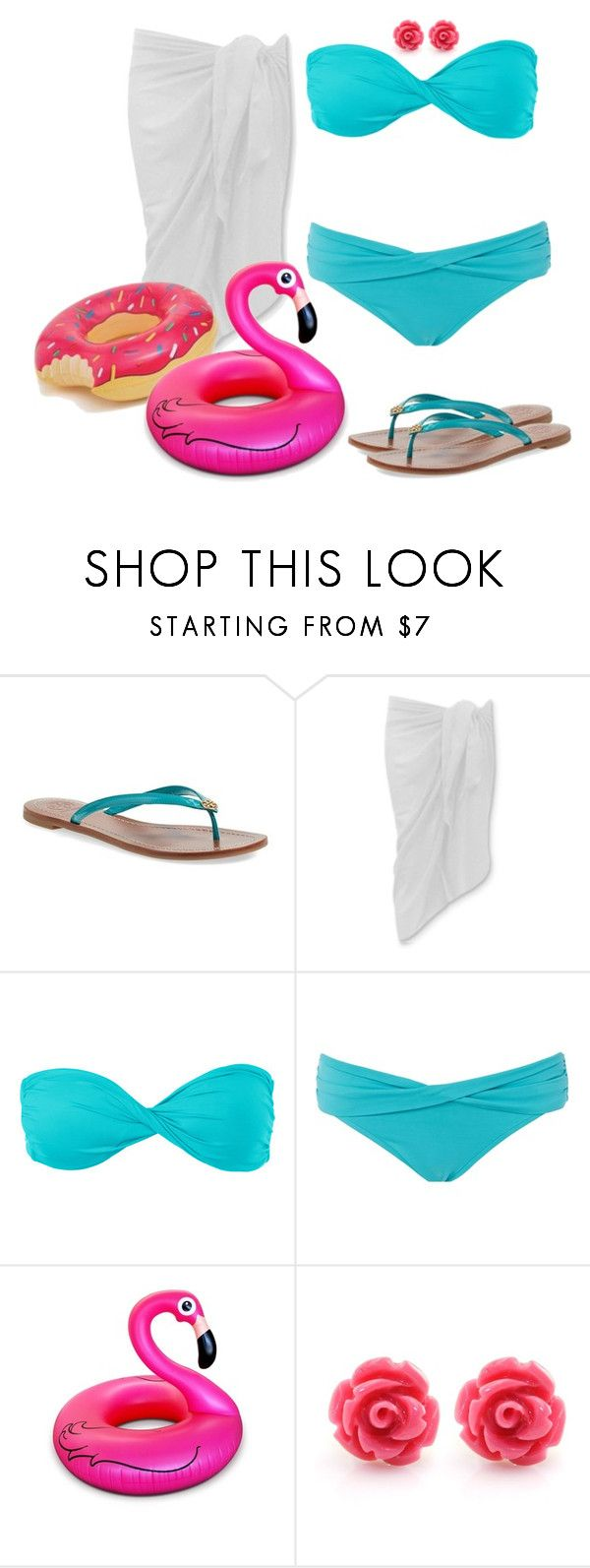 """""""Contest Day 6:Pool"""" by mary-grace-see on Polyvore featuring Tory Burch, Volcom, Seafolly, Big Mouth, women's clothing, women, female, woman, misses and juniors"""